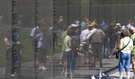 Visitors at the Vietnam War Veterans Memorial Stock Photos