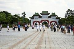 Visitors viewing honor guard of ROC,Taipei,Taiwan Royalty Free Stock Photo