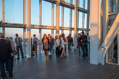 Visitors on the viewing platform in The Shard. Stock Image