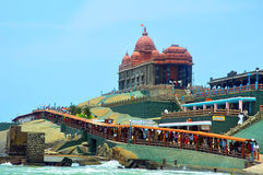 Kanyakumari vivekananda rock memorial Royalty Free Stock Images