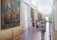 Visitors walk at the Hermitage Royalty Free Stock Photos