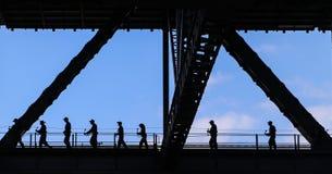 Visitors walking through harbour bridge in sydney,australia Royalty Free Stock Photography