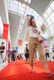 Visitors walking inside Royalty Free Stock Photo