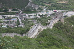 Visitors walks on the Great Wall of China on Stock Image