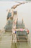 Viskwekerij bij Chanthaburi rivier Thailand Royalty-vrije Stock Foto's