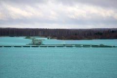 Viskwekerijen voor het fokkenvissen stock foto's