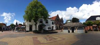 Vismarkt Den Burg Texel Panorama photo stock