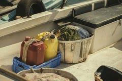 Visnet in een vissersboot Royalty-vrije Stock Afbeeldingen