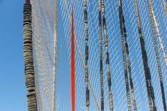 Visnet het drogen in de wind stock afbeeldingen