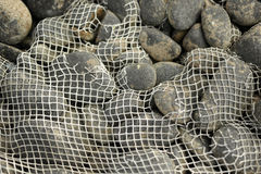 Visnet over rotsen Stock Afbeelding