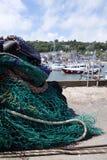 Visnetten bij een Engelse haven Royalty-vrije Stock Foto's
