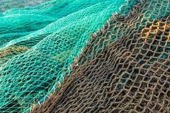Visnetten in het dok van Santa Pola, Spanje royalty-vrije stock afbeelding