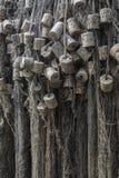 Visnetten met cork vlotters Stock Fotografie