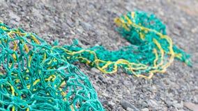 Visnetten op een strand Royalty-vrije Stock Fotografie