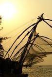 Visnetten van Kerala India Stock Foto's