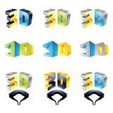 visning för erfarenhet 2 3d vektor illustrationer