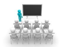 visning för person 3d som blackboarden räcker by Royaltyfri Bild