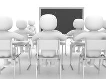 visning för person 3d som blackboarden räcker by. Fotografering för Bildbyråer