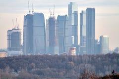 visning för stadsparmoscow skyskrapa Royaltyfri Foto