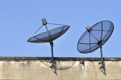visning för tv för radarmottagaresatellit Royaltyfri Bild