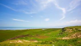 VisningQinghai sjö från den västra sidan av Qinghai sjön fotografering för bildbyråer