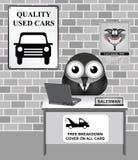 Visningslokal för använd bil Arkivbilder