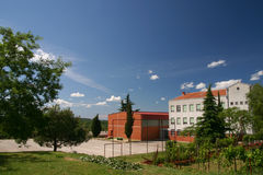 Visnjan elementary school. In Croatia Stock Image