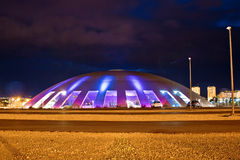 Visnjik Zadar cupola sports dome. Night view, Dalmatia, Croatia Royalty Free Stock Photography