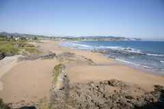 Viso beach in Asturias Royalty Free Stock Image