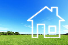 Visão da imaginação da casa nova Imagens de Stock