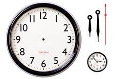 Viso e mani di orologio in bianco Fotografia Stock