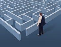 Visão e pensamento estratégico no negócio Fotos de Stock
