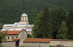 Visoki serbisk ortodox kloster, Decani, Kosovo arkivfoton