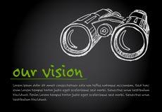 Vison - minimalistyczny pojęcia ilustration Obrazy Stock