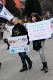 Visoni nazionali di liberazione della processione Fotografie Stock Libere da Diritti