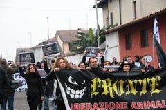 Visoni nazionali di liberazione della processione Fotografia Stock