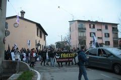 Visoni nazionali di liberazione della processione Fotografie Stock
