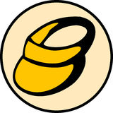Visor cap vector illustration. Vector illustration of a visor cap Royalty Free Stock Image