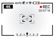 visor de la cámara de vídeo 4K transparente Fotografía de archivo