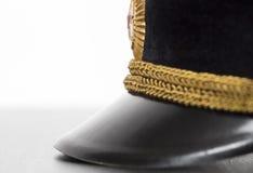 Visor military cap closeup Royalty Free Stock Photos