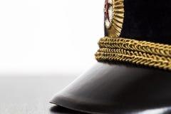 Visor military cap closeup Royalty Free Stock Image