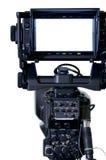 Visor profesional de las cámaras de la TV Foto de archivo libre de regalías