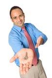 Visore passante dell'uomo d'affari un tasto immagine stock libera da diritti
