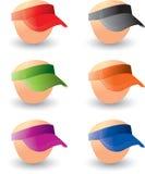 Visors on heads Stock Photography