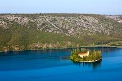 Visovac, Croatie Images libres de droits