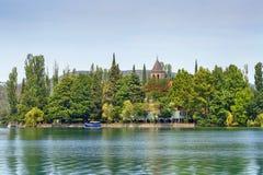Visovac-Insel in Krka-Park, Kroatien lizenzfreie stockfotografie