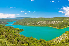 Visovac Lake In Krka National Park Royalty Free Stock Photos