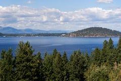 Lake Coeur d`Alene, Idaho. Visrta of Lake Coeur d`Alene, Idaho royalty free stock photo