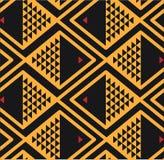 Vissen achtergrondpatroon gele zwarte Stock Afbeeldingen
