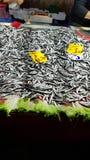 Vissen in bazaar Stock Foto